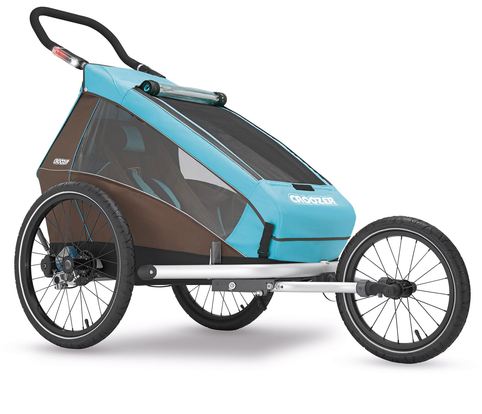 Croozer Kid Plus for 1 - 3 in 1 Single Child Trailer Sky Blue / Brown by Croozer (Image #3)