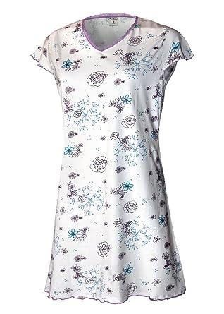 finest selection 2e24d fc56a Moonline nightwear Damen Nachthemd Damen Pyjama Damen Sleepshirt Damen  Schlafshirt Schlafhemd aus 100% Baumwolle Gr. SML XL