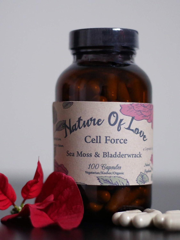 Cell Force: Sea Moss/Irish Moss and Bladderwrack Capsules - 100% Natural, Vegan, Organic, Non-GMO - Dr Sebi Inspired