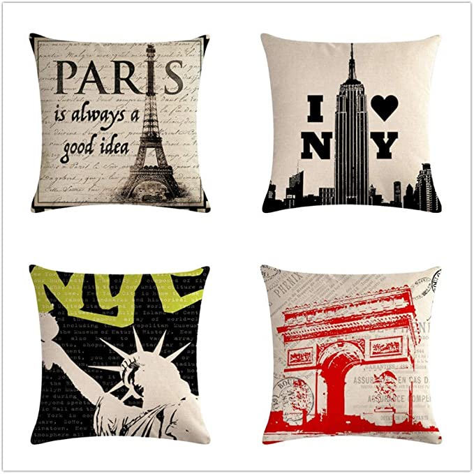 KYLong Linen hug pillowcase Paris