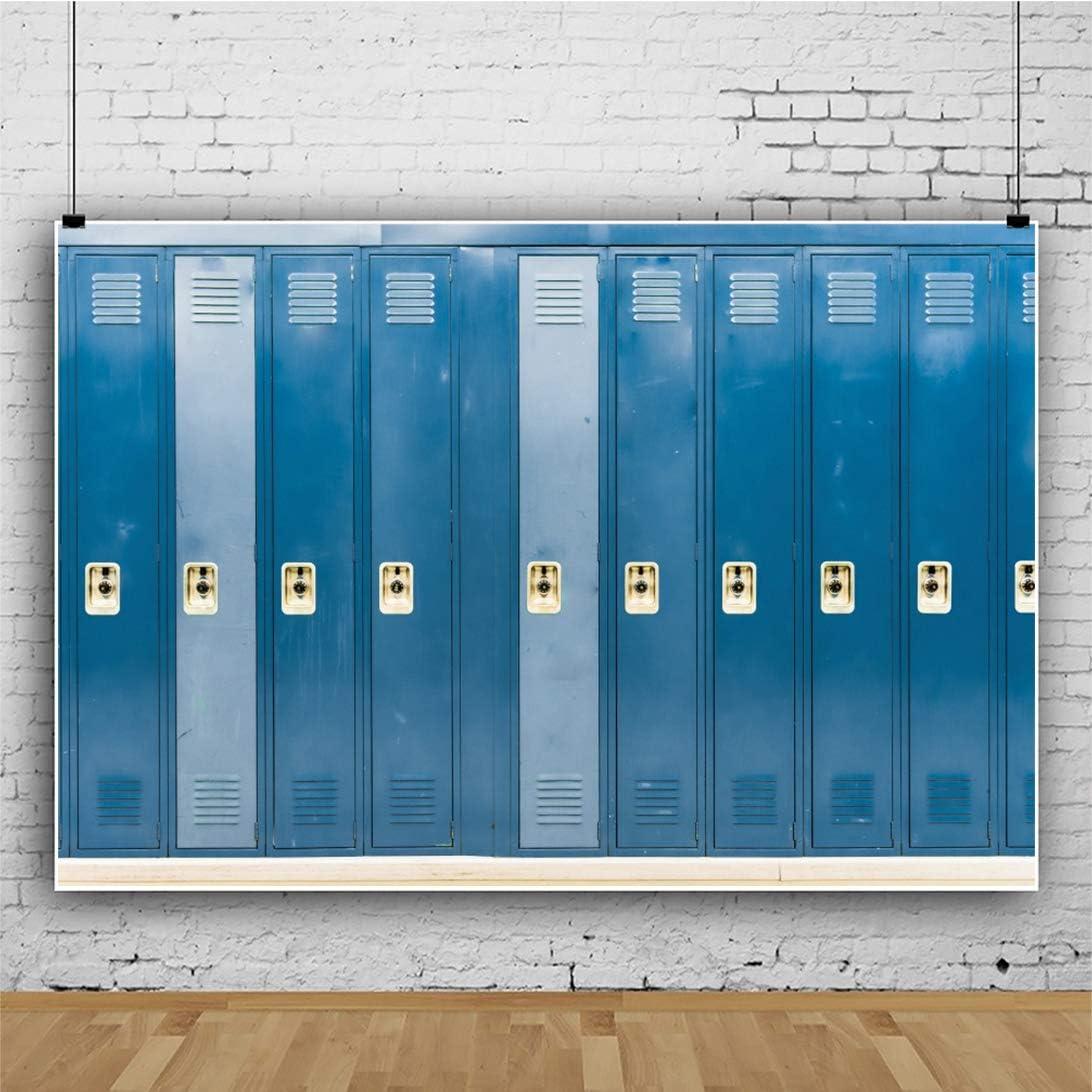 YEELE Locker Backdrop 15x10ft School Lockers in a Dark Corridor Photography Background Interior Dressing Room Club Event High School Students Teammate Gathering Photo Studio Props Digital Wallpaper