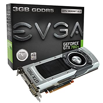 EVGA GeForce GTX 780 Ti, 3GB, 3072MB,GDDR5 384bit, Dual-Link DVI-I, DVI-D, HDMI,DP, SLI Ready Graphics Card (03G-P4-2881-KR) Graphics Cards ...