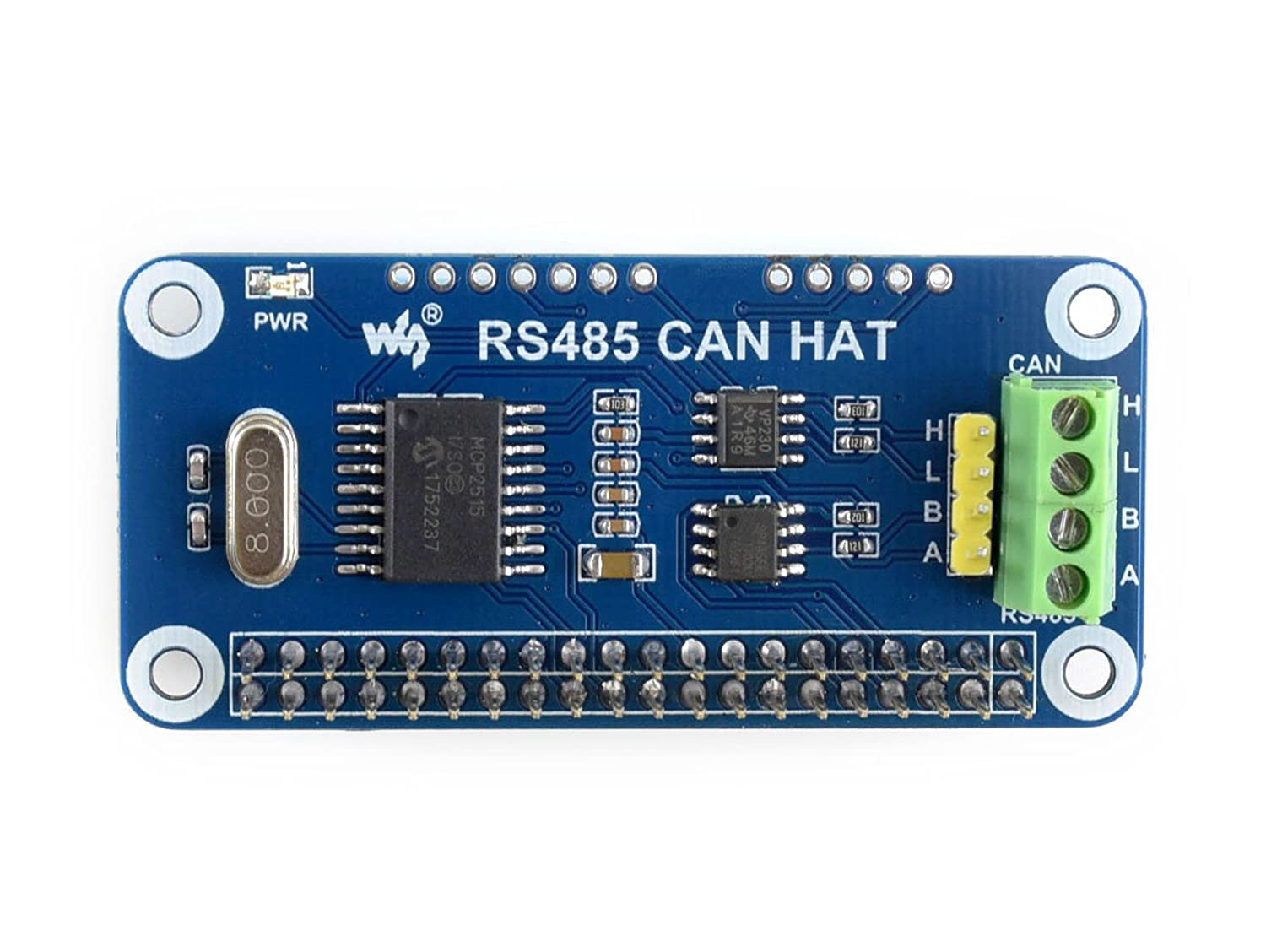 Waveshare Rs485 Can Hat Designed For Raspberry Pi Wiringpi I2c Lcd Allowing Stable Long Distance Communication Computers Accessories