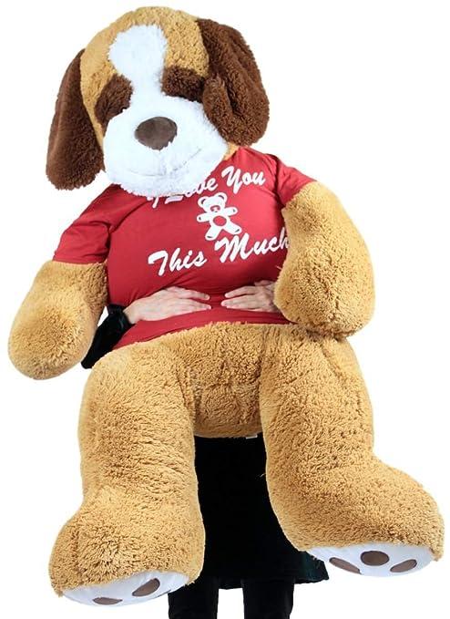 Buy Giant Stuffed Saint Bernard 60 Inches Soft 5 Feet Tall Plush Dog