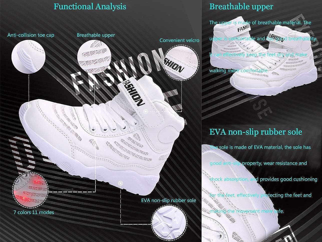 site réputé 3a64b b895f GJRRX Baskets Filles Chaussures Garçons LED Chaussures USB ...