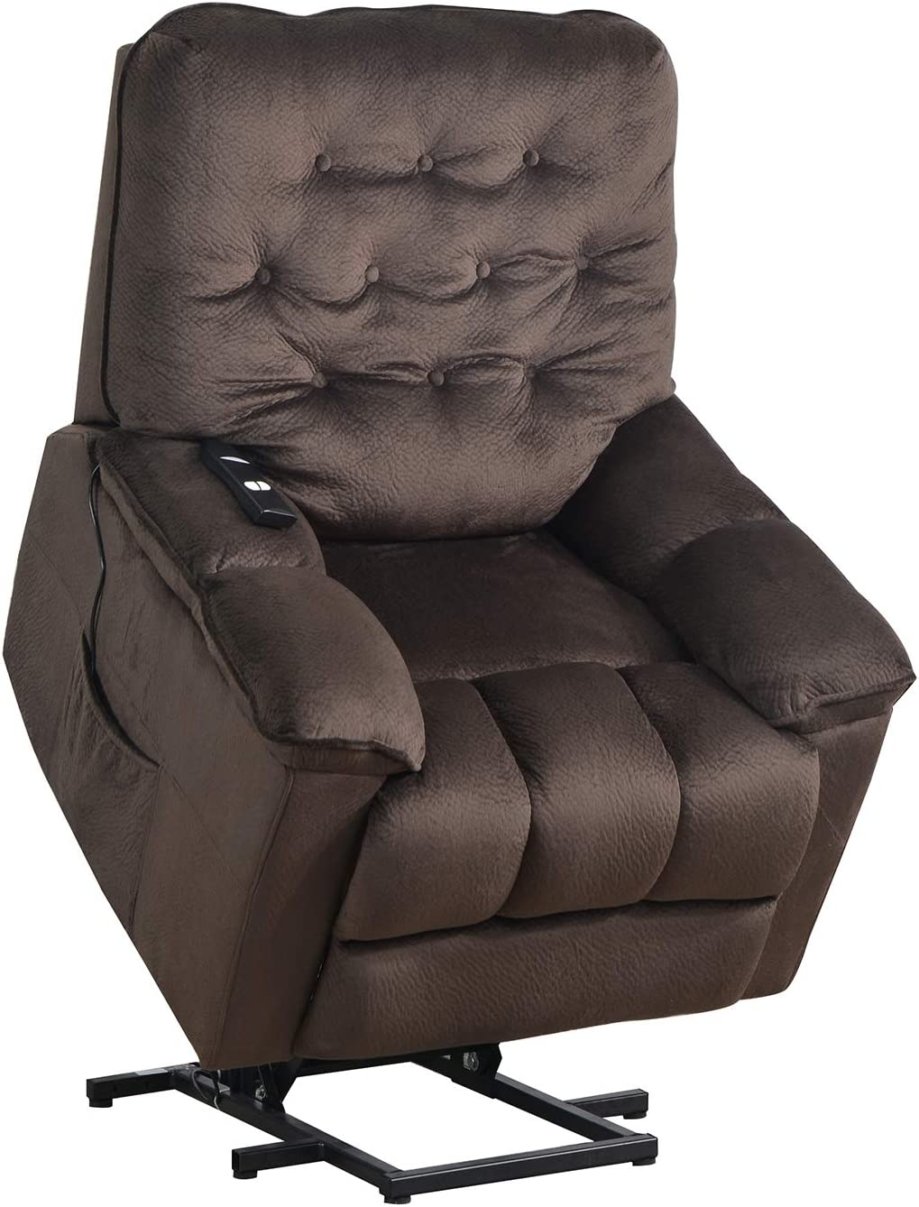 Merax Power Lift Recliner Chair Lazy Sofa for Elderly, Heavy-Duty Fuction with Remote Control, Office or Living Room, Brown