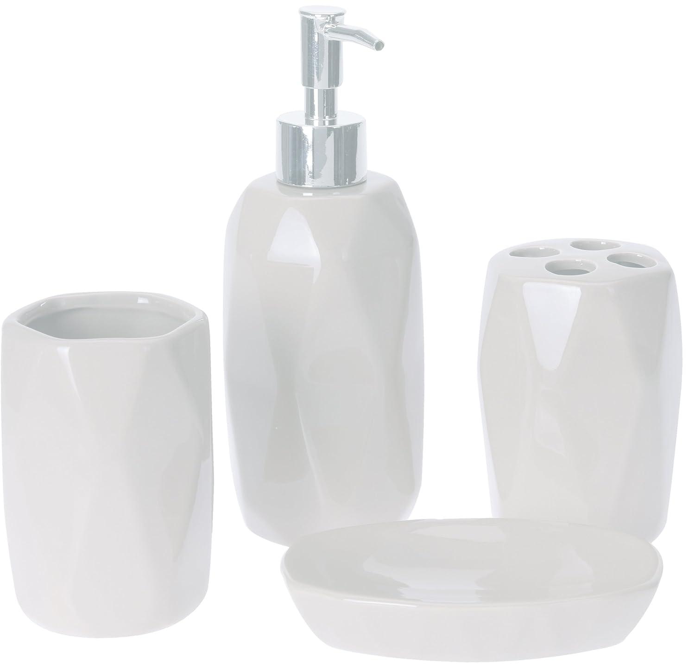 Lusso pezzi Set acrilico bagno Set di diamante tempestato di dolomite set decorazione colore bianco dolomite design s&s