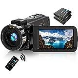 Video Camera Camcorder FHD 1080P 30FPS 36MP IR Night Vision YouTube Vlogging Camera Recorder 3.0'' 270 Degree Rotation IPS Sc