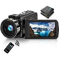 Video Camera Camcorder FHD 1080P 30FPS 36MP IR Night Vision YouTube Vlogging Camera Recorder 3.0'' 270 Degree Rotation…