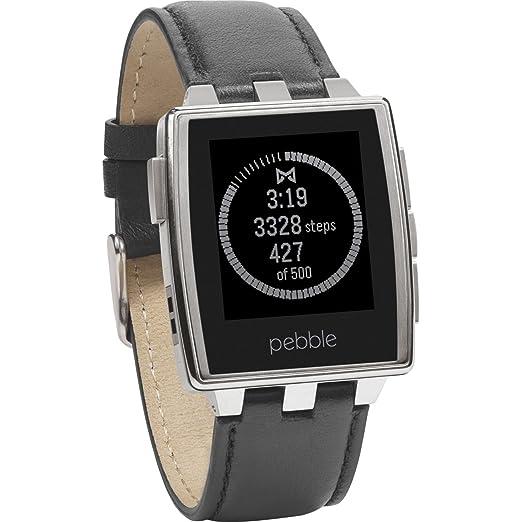 80 opinioni per Pebble Steel Smartwatch con Cassa Acciaio, Cinturino Pelle, Argento/Acciaio