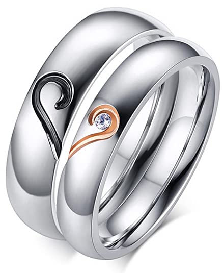 Amazon.com: lineave masculino o femenino pareja corazón ...