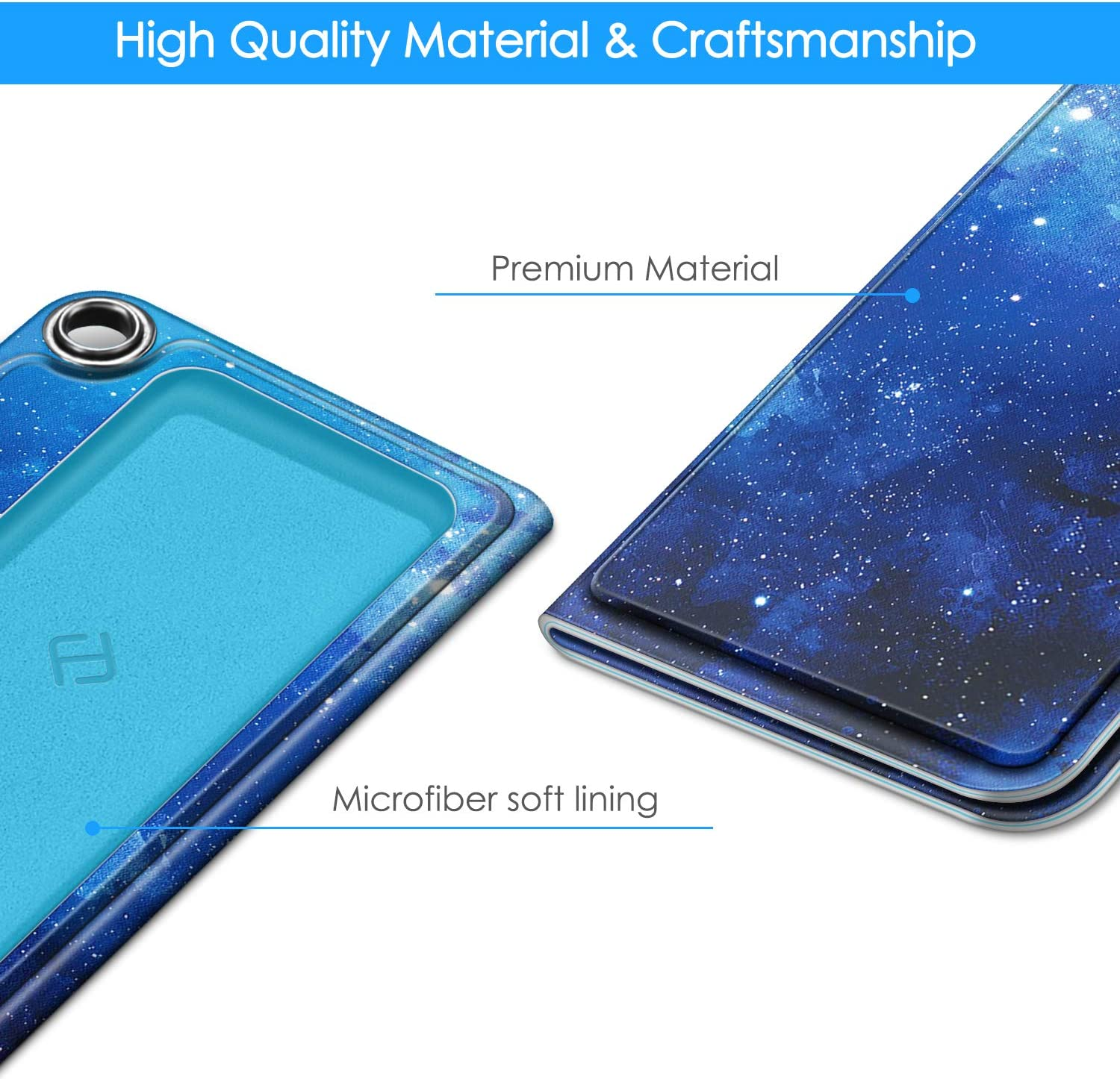 Black Premium PU Leather Carrying Cover with Magnetic Closure and Key Holder for KardiaMobile EKG Heart Monitor, Fintie Protective Case for Kardia Mobile Not Fit KardiaMobile 6L