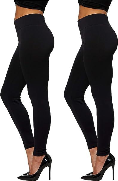 Premium Womens Fleece Lined Leggings - High Waist - Regular and Plus Size - 20+ Colors