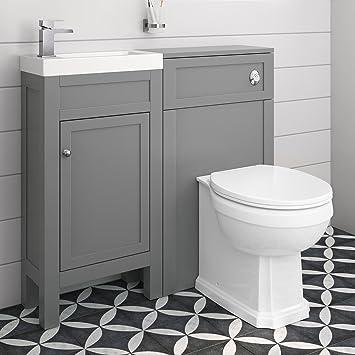 Combined Toilet Vanity Unit Basin Sink Bathroom Bath Furniture