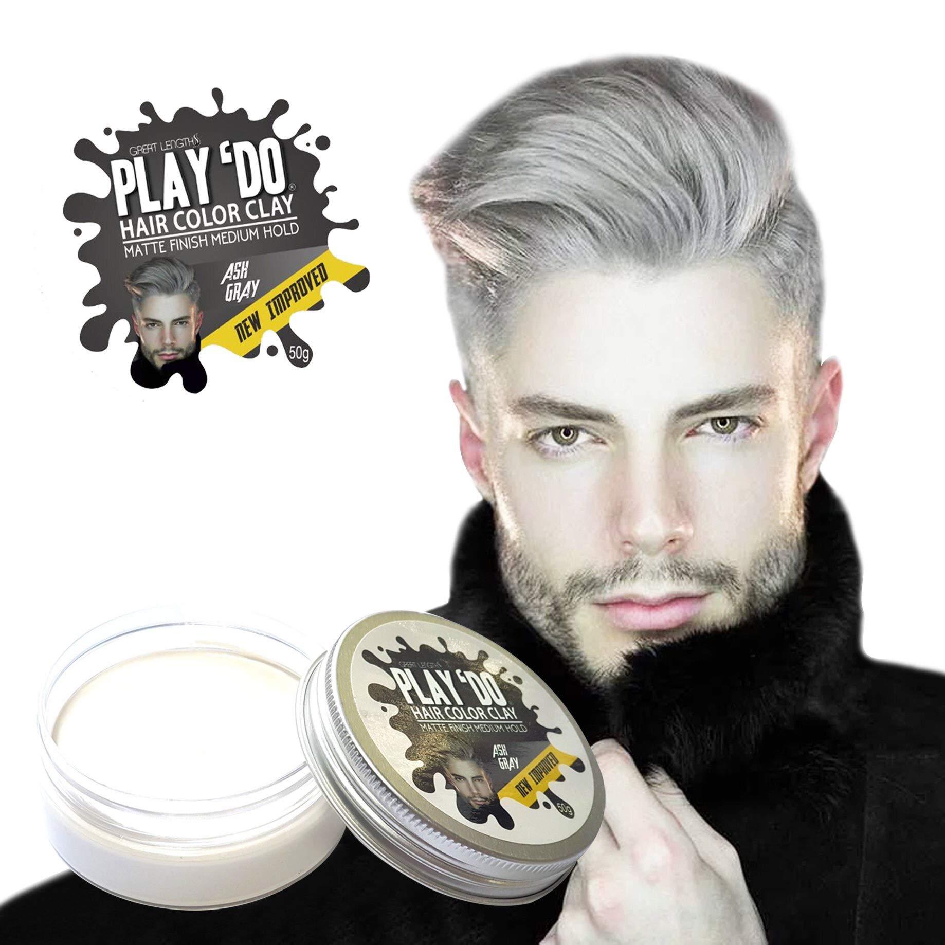 Play 'Do Temporary Hair Color, Hair Wax, Hair Clay, Mens Grooming, Gray hair, Pomade,White hair dye(1.8 ounces) ... by Great Lengths