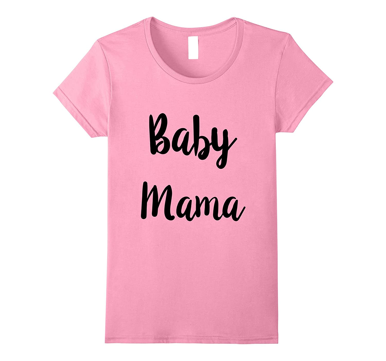 Womens Baby Mama Shirt | Baby Daddy Matching Maternity Shirt-Art