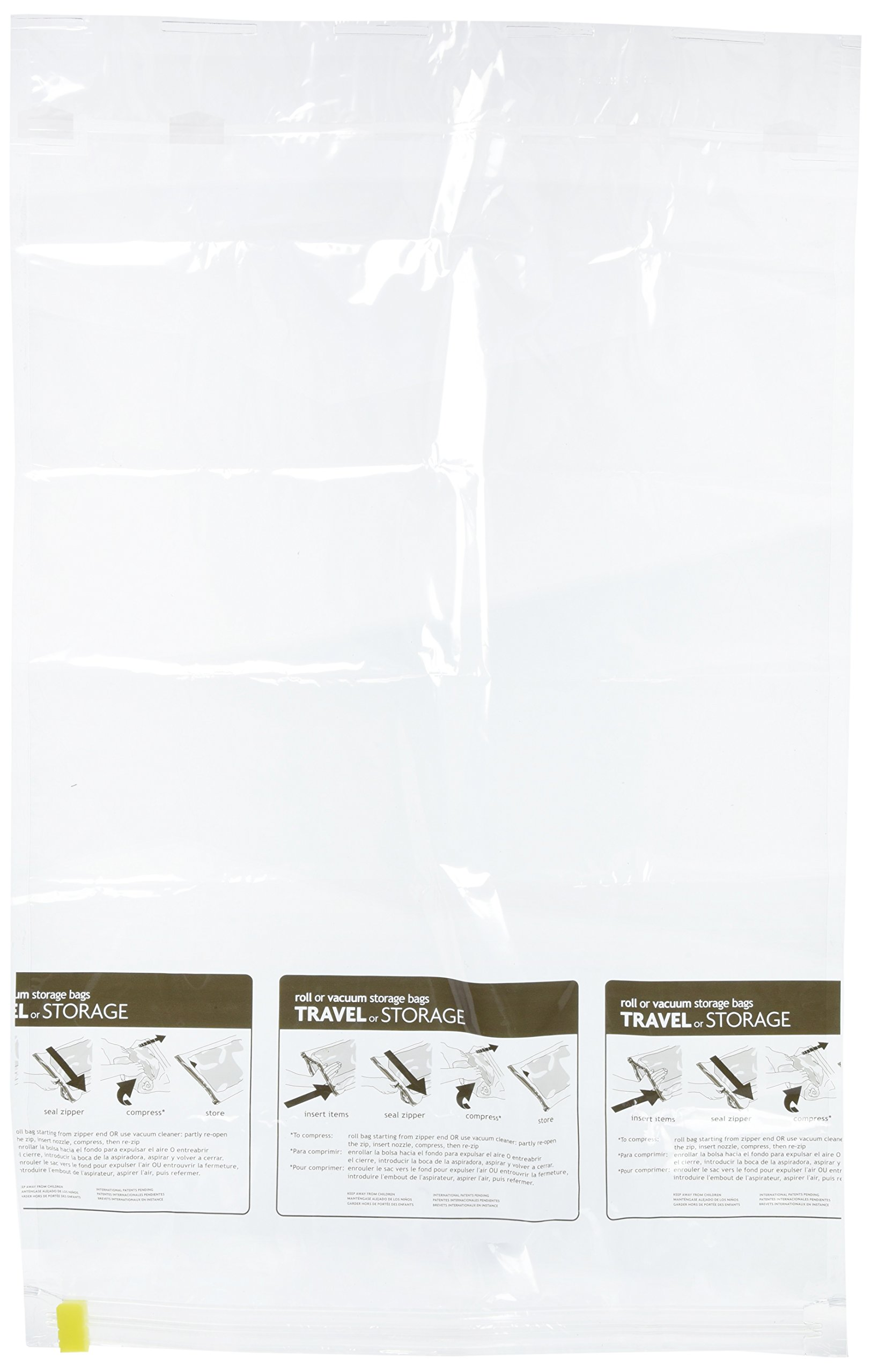 Travel Smart by Conair Compress N' Pack Space Saving Packing Bag Kit, Clear, 2 Extra-Large Bags