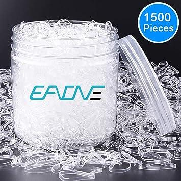 Amazon.com   EAONE 1500 Pieces Clear Elastic Hair Bands 23462e78d8a