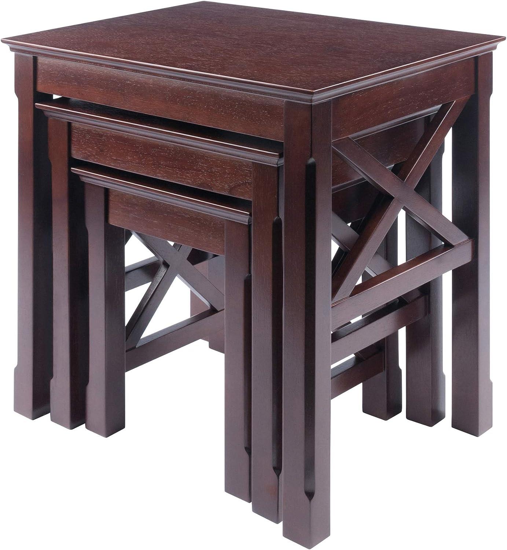Winsome Xola Nesting Tables, Cappuccino: Furniture & Decor