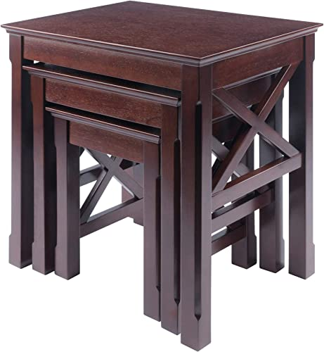 Winsome Xola Nesting Tables, Cappuccino