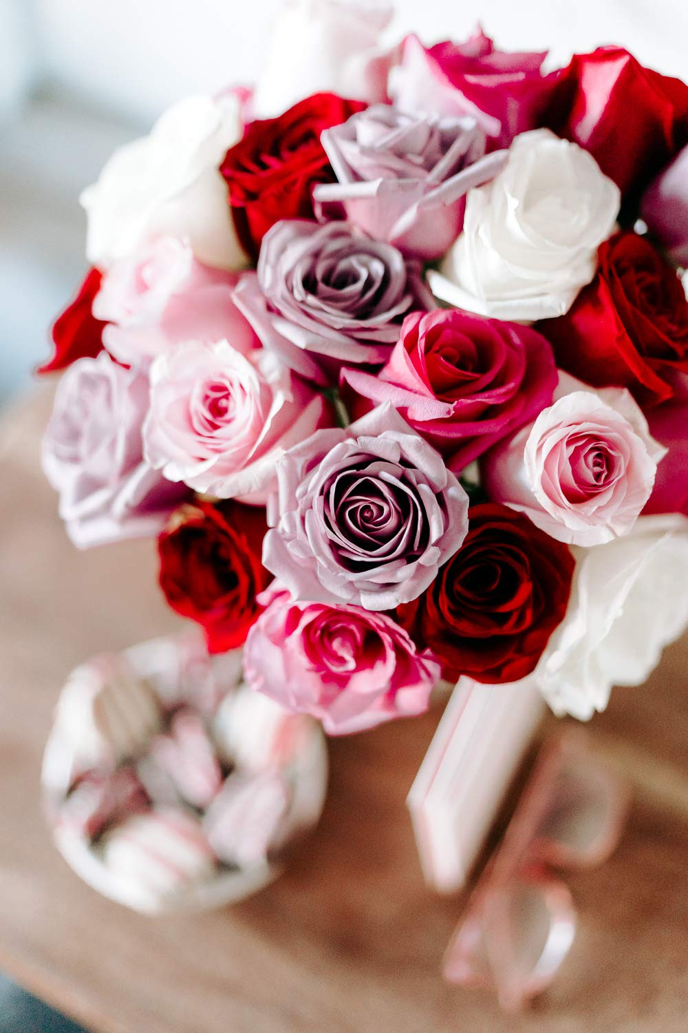 Flowers - 2 Dozen Roses in Red, Pink, Purple & White (Free Vase Included) by From You Flowers (Image #1)