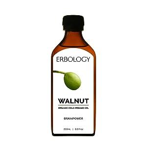 Organic Cold-Pressed Walnut Oil 6.8 fl oz - Rich in Omega-3 - Premium Food Grade