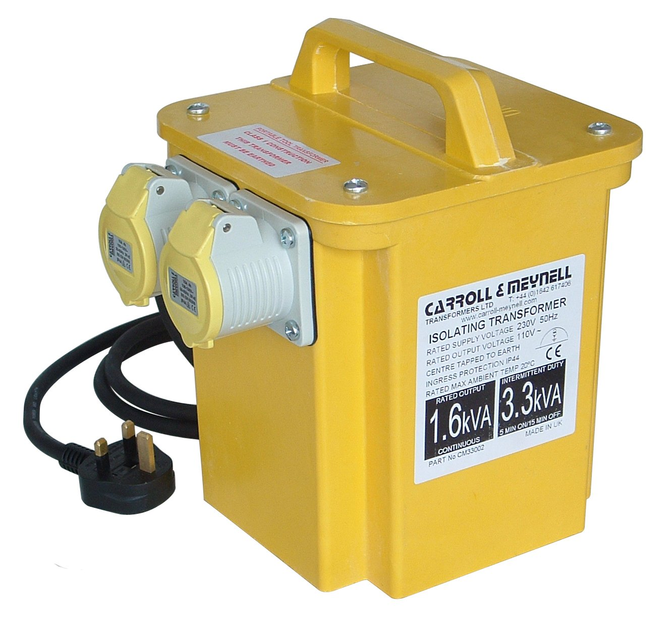 Carroll & Meynell 3300/2 Twin Outlet Transformer 3.3 Kva C/M33002