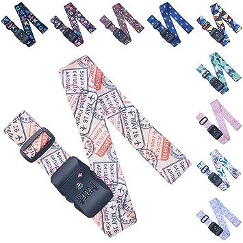Amazon.com: Correas de equipaje ajustables/Cinturón para ...