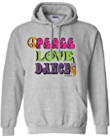 Sports Katz Womens 'Peace Love' DANCE Hoodie