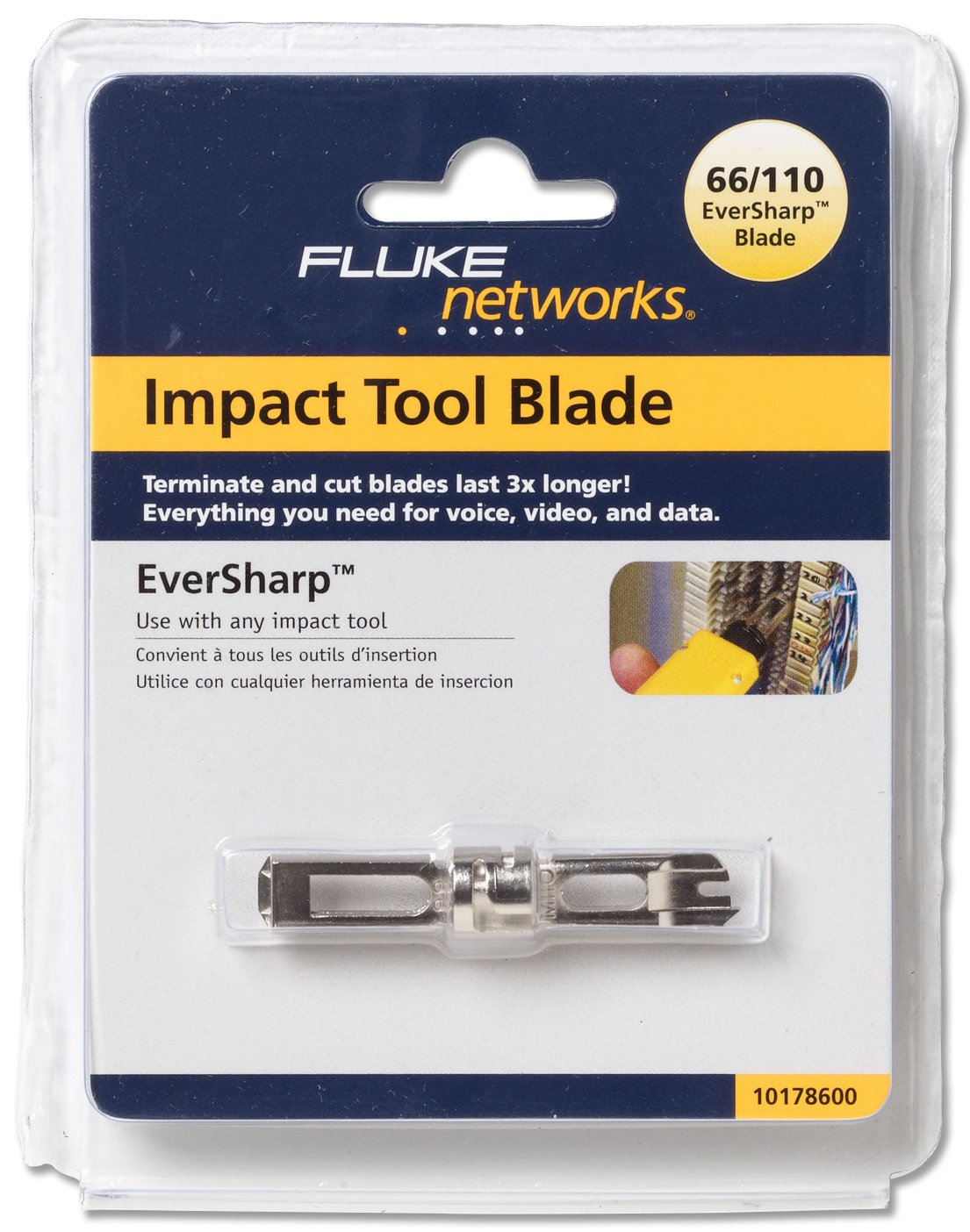 Fluke Networks 10565110 Krone//110 Combination Cut Blade for D814 Series and D914 Series Impact Tools
