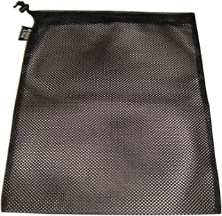 product image for Laundry bag drawstring mesh with cord lock, black Made in USA.