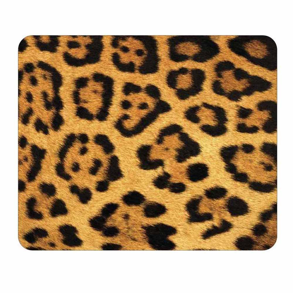 Leopard Animal Print Mouse Pad - Wildlife Theme Design - Stationery Gift - Computer Office Business School Supplies