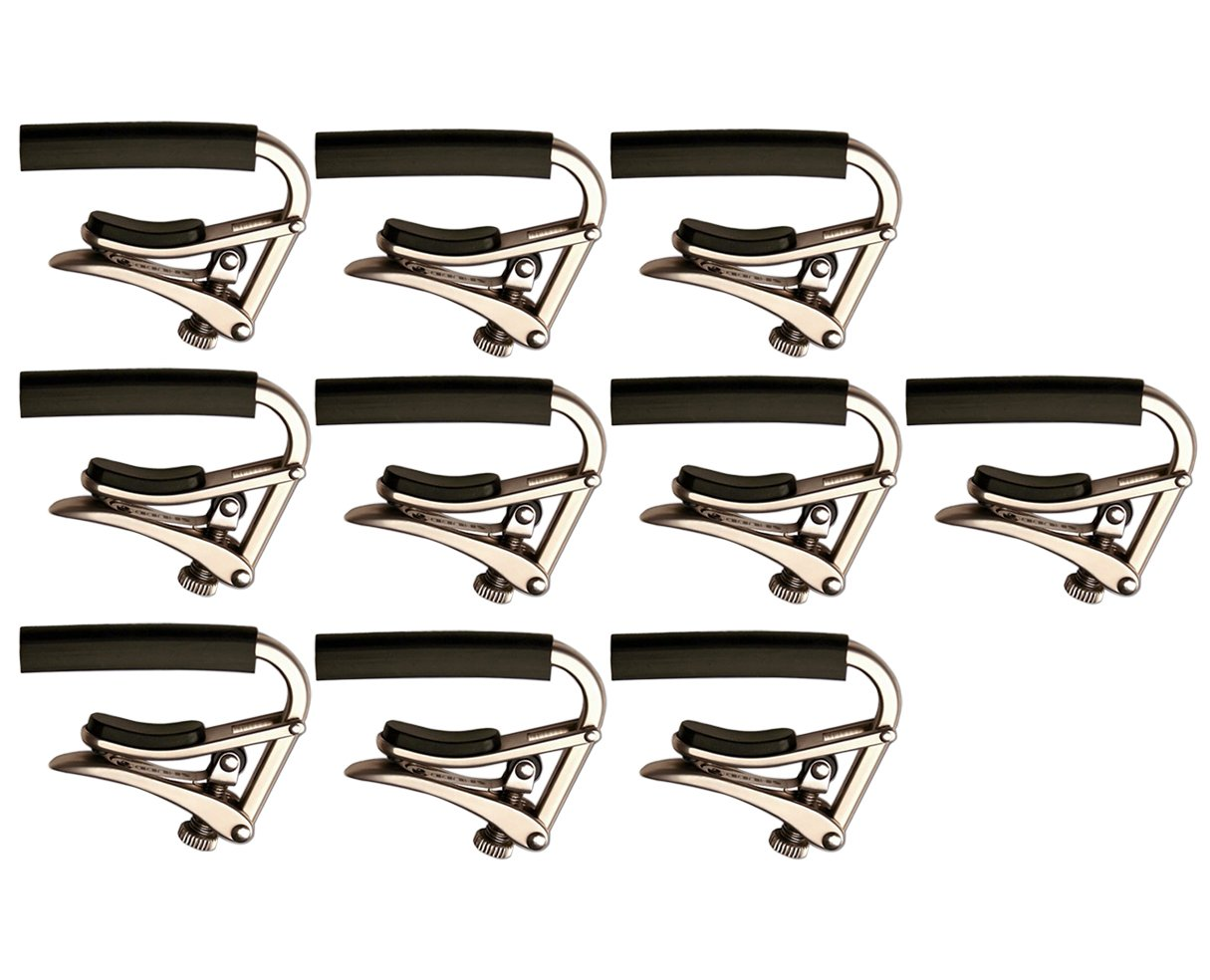 Shubb C1N Brushed Nickel Capo Steel String Guitar Capo 10-Pack