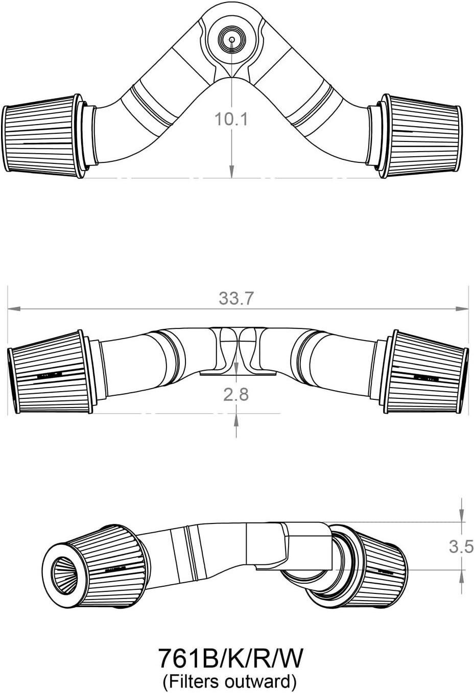 Spectre Performance 761 Dual Plenum Kit with 45/° Tube