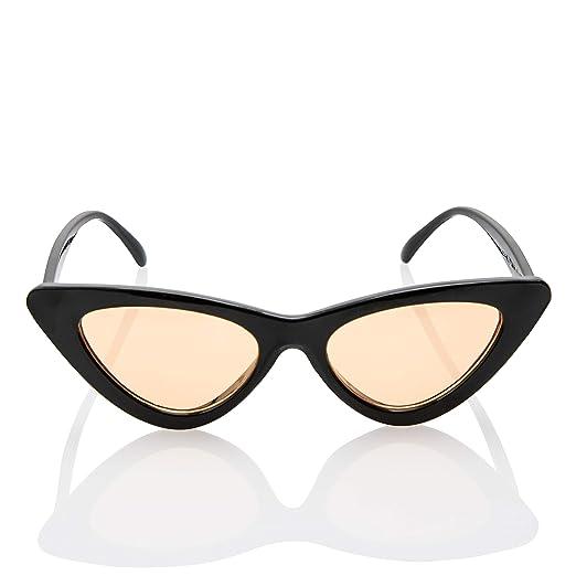 a6bdcb5f12 SunMod - Vintage Mod Clout Goggle Color Cat Eye Sunglasses UV 400 Retro  Kurt Cobain for
