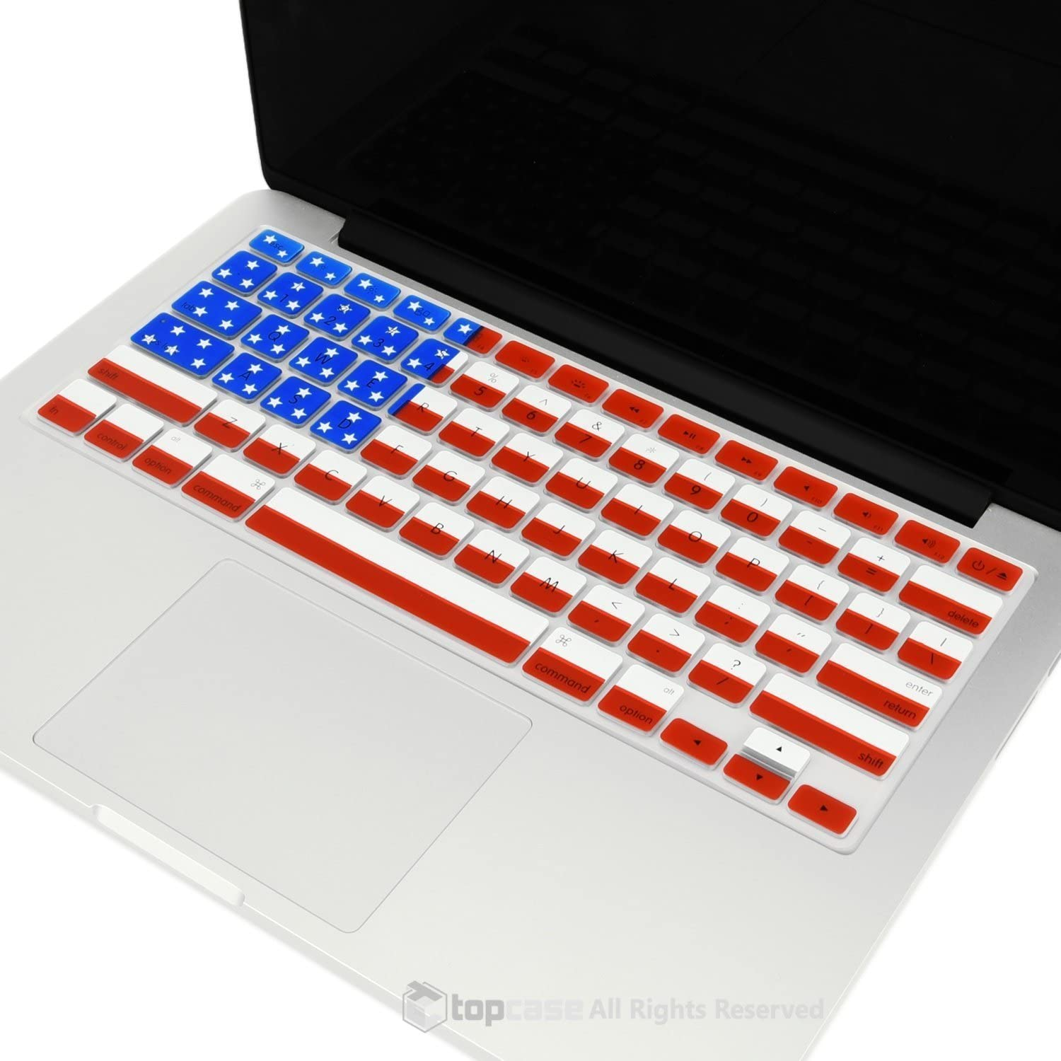 Brilliant Light TOP CASE Ultra Thin Silicone Keyboard Cover Compatible with MacBook 13 Unibody//Old Generation MacBook Pro 13 15 17// MacBook Air 13//Wireless Keyboard