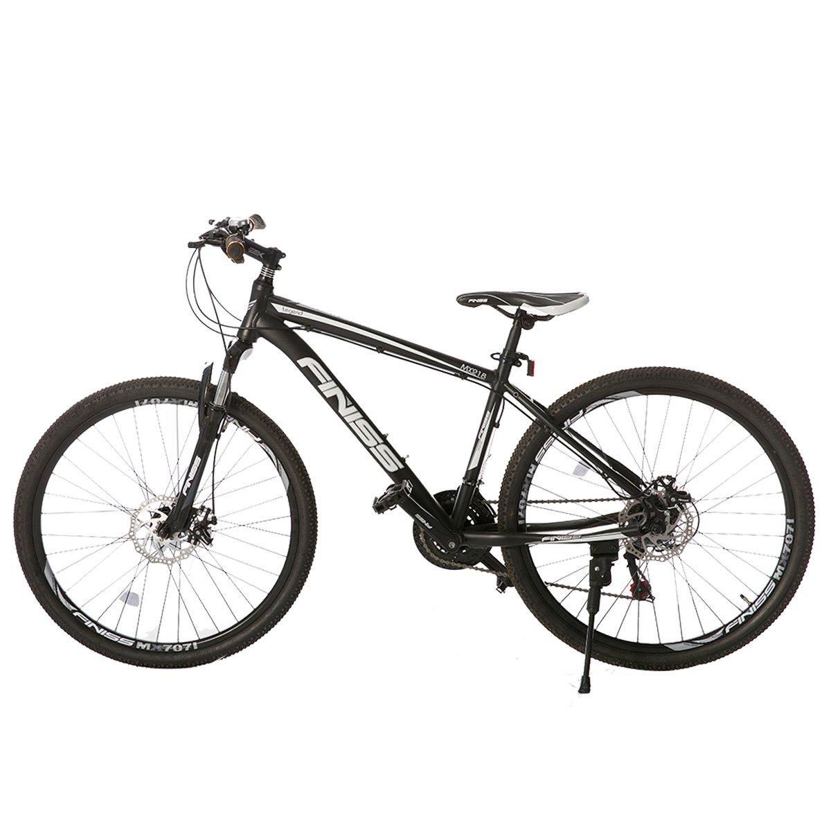 オーエスジェー OSJ NEW売り切れる前に☆ 自転車 アルミマウンテンバイク 完売 26インチ アルミフレーム ハイフレーム MTB マットブラック シマノ21段変速 B072BW38HD フロントサスペンション