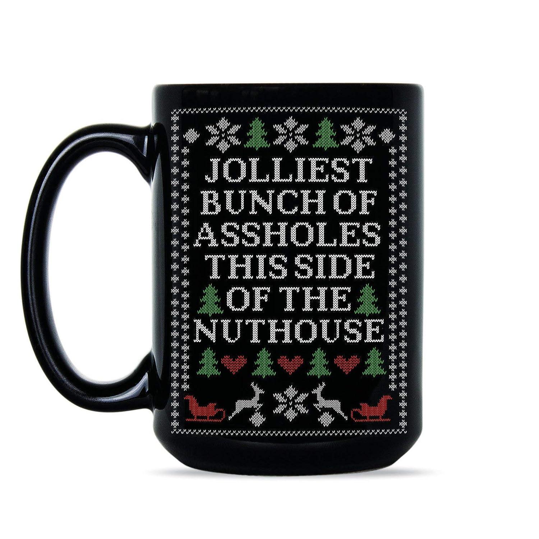 6aa789acc06 Amazon.com  Jolliest Bunch of A-Holes Mug Christmas Vacation Coffee Mug   Kitchen   Dining