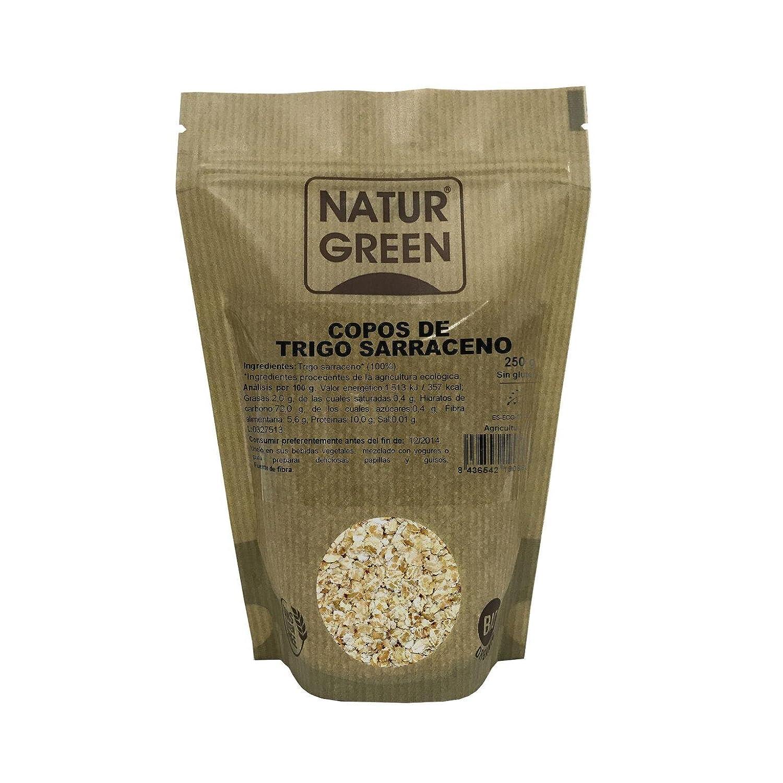 Copos de Trigo Sarraceno BIO Sin Gluten Naturgreen, 250 g