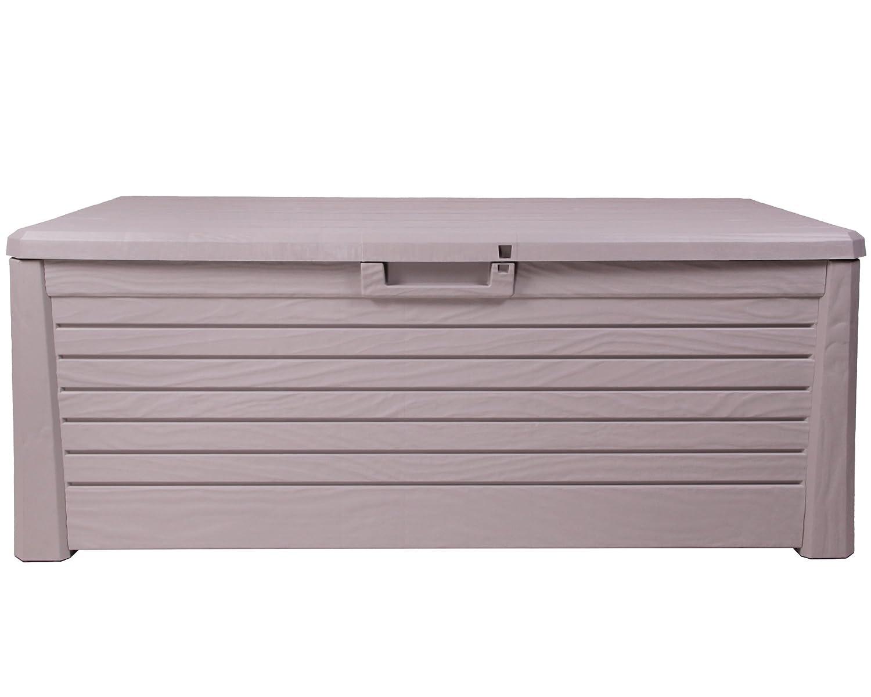 Ondis24 Ondis24 Ondis24 Kissenbox Florida Holz Optik Sitztruhe Auflagenbox grau 550 Liter XXL mit Gasdruckfedern f58e77