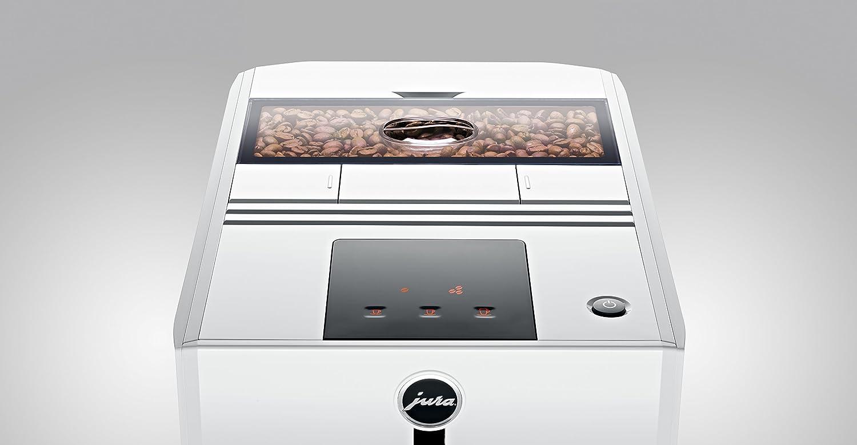 JURA A1 Piano White Independiente M/áquina espresso Blanco 1,1 L 9 tazas Totalmente autom/ática Cafetera Independiente, M/áquina espresso, 1,1 L, Molinillo integrado, 1450 W, Blanco