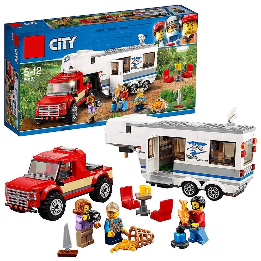 GWO Recogida De Vehículos De La Ciudad Y Juego De Caravanas, Juguetes De Construcción De Vehículos para Niños