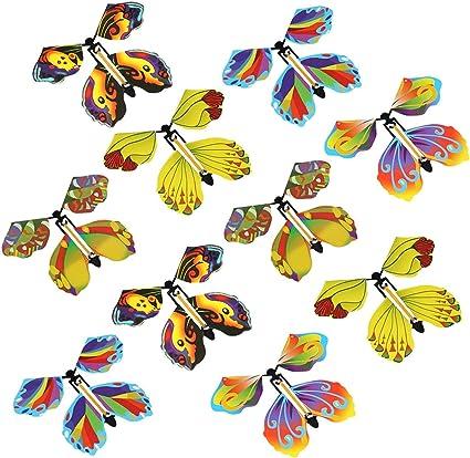 Colore e Stile Casuali Farfalla Volante Colorata 10 Pezzi Magic Flying Butterfly Magica svolazzante Bambini Farfalla Regalo Giocattoli per Bambini