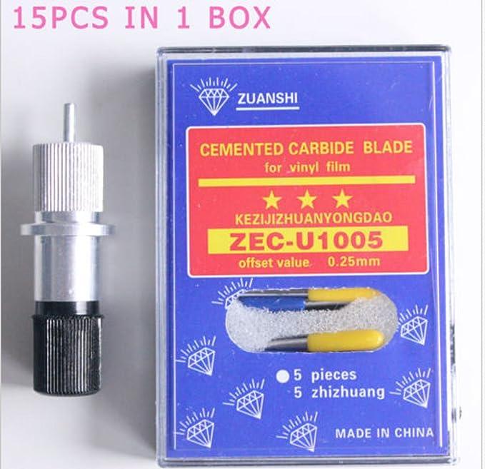 Estados Unidos Premium Store 15 PC 30 °/45 °/60 ° (hoja para Plotter de Corte Roland vinilo cortador + soporte: Amazon.es: Oficina y papelería