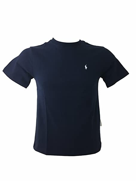 Ralph Lauren Little Boys Polo Solid Camiseta de Cuello Redondo: Amazon.es: Ropa y accesorios