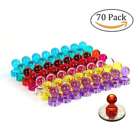 7 imanes en forma de pin HMILYDYK y de distintos colores, 70 ...