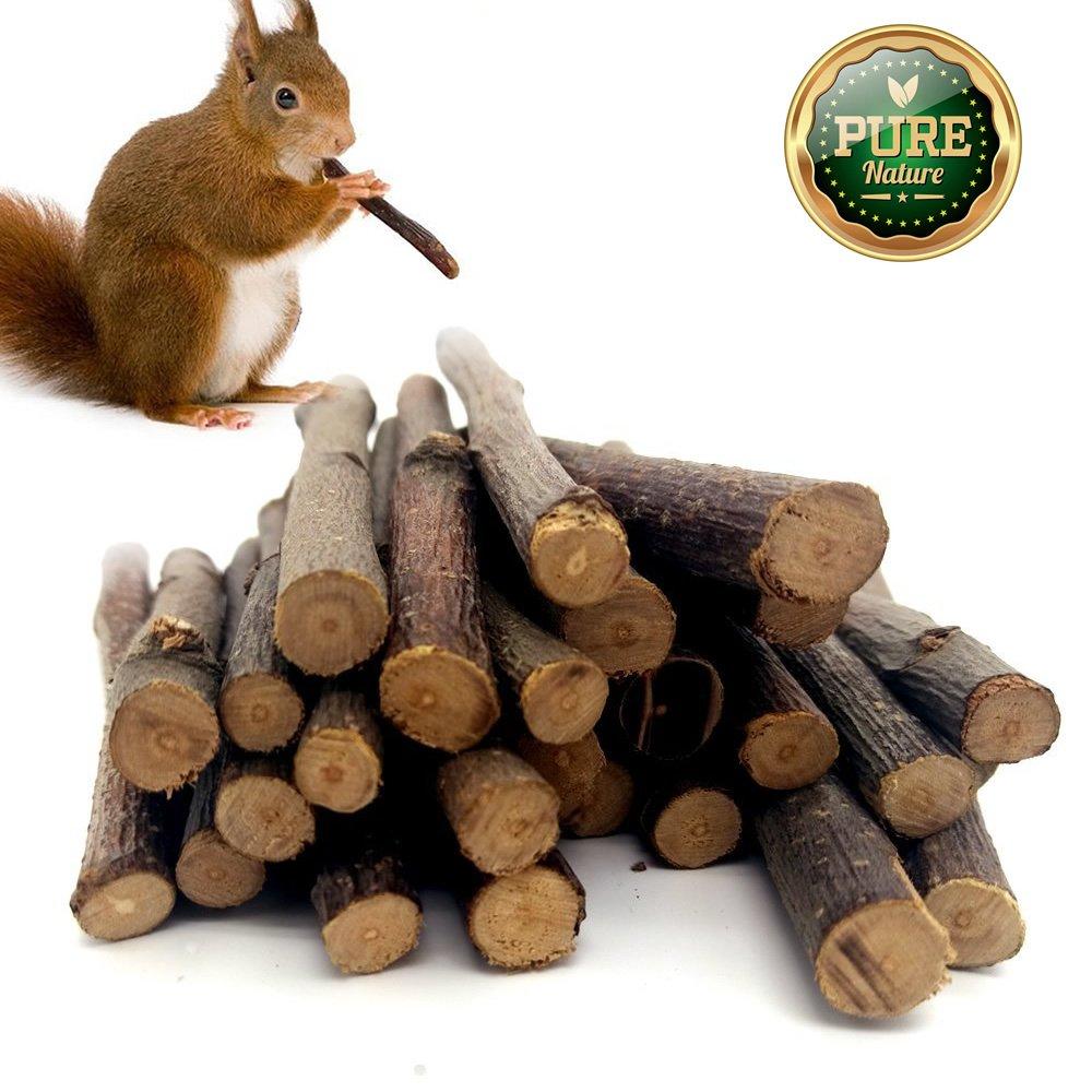 100g Pet Snacks Organic Apple Sticks Bonus for Squirrel Rabbits Guinea Pigs Chinchilla Rabbits Parrot and Other Small Animals Chew Toys Mrli Pet