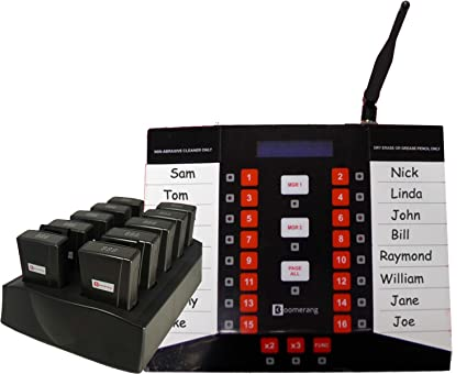 Amazon com : Staff Waiter Pager System Kit with 6 pagers