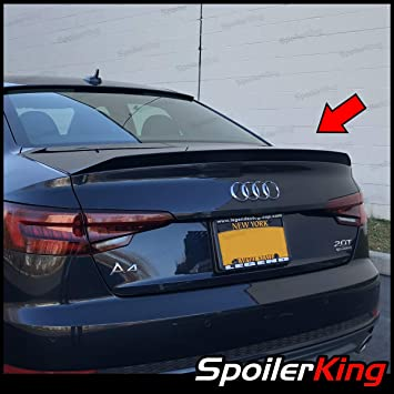 Fits 2009-2016 Audi A4 B8 Rear Trunk Spoiler Wing Unpainted Poly Urethane PU