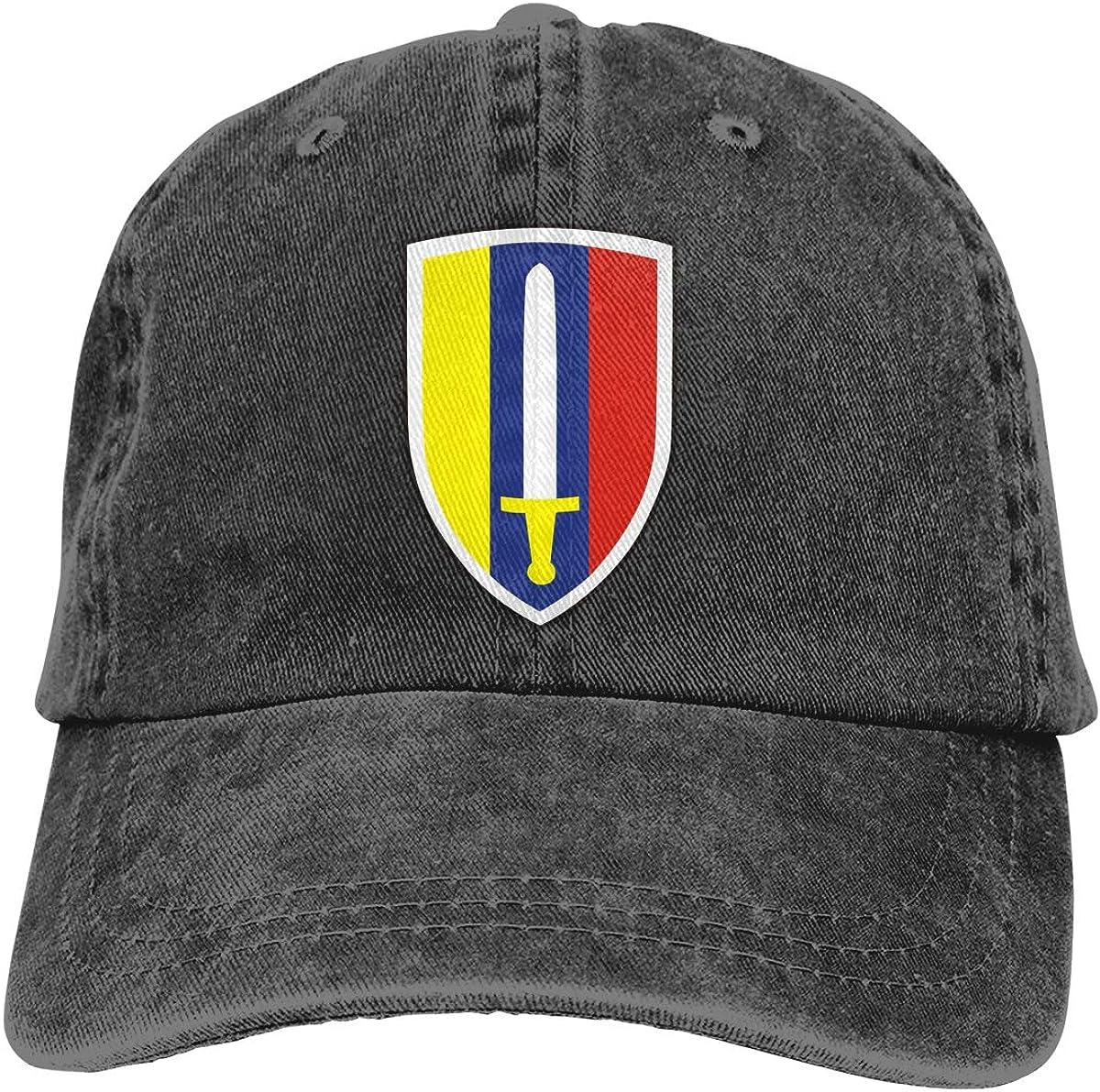 U.S Army Vietnam Usarv Sticker Decal Adult Unisex Classic American Style Printing Adjustable Denim Cowboy Hat